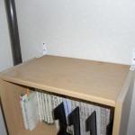 書棚の固定完了